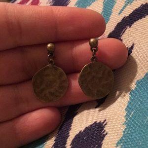 Copper wavey dangle earrings